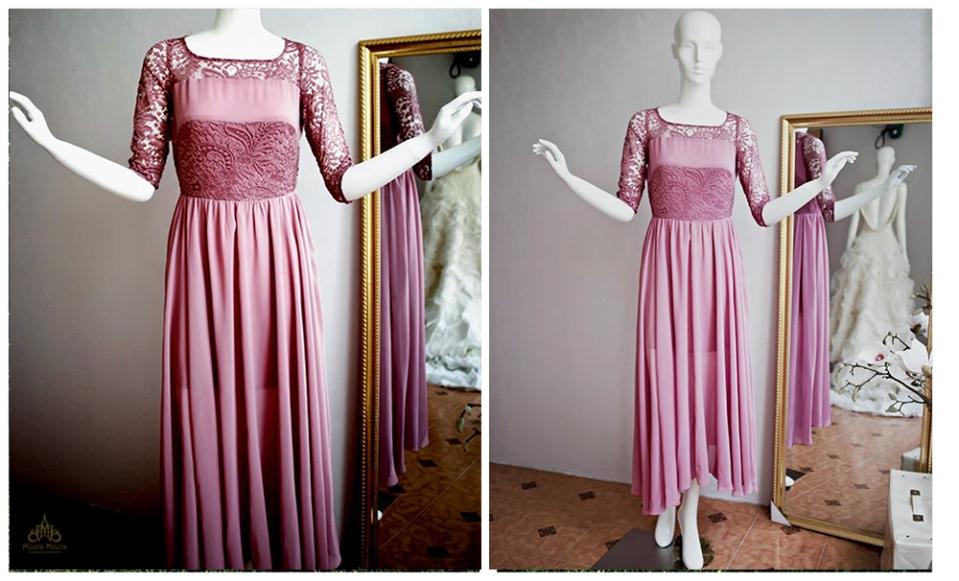 May áo cưới - Đầm dạ tiệc đẹp tại sài Gòn - Đầm dạ tiệc dáng dài Mã 1010