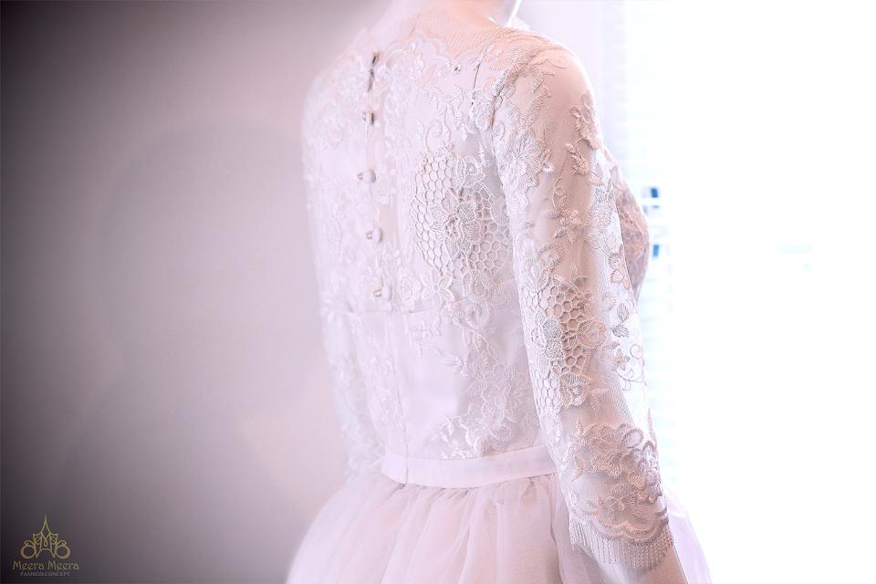 May áo cưới đẹp tại Sài Gòn- Áo cưới tùng xoè nữ tính mã KH1018