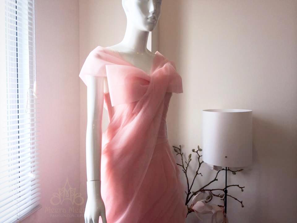 Áo cưới lộng lẫy màu hồng dâu Mã KH1012