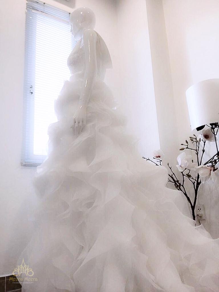 Áo cưới hoa hồng mã KH1128