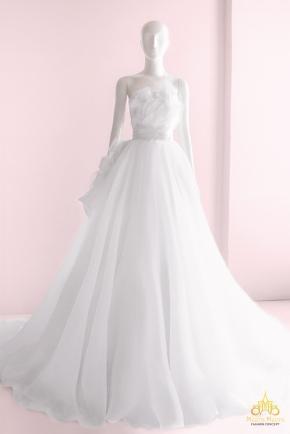 Áo cưới dạ tiệc hoa hồng nổi 3D lãng mạn KH1256