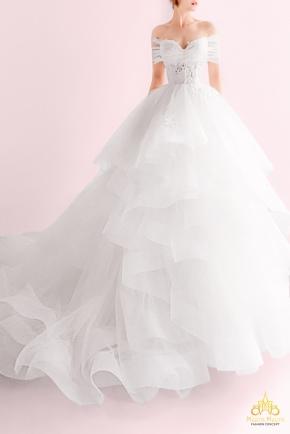 May áo cưới Meera Meera Áo cưới Công chúa Xếp tầng